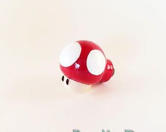 Mario Mushroom Drawer Knob | Super Mario Bros Red Mushroom Green Mushroom Cabinet Knobs | Nintendo Home Decor Super Mario Pull Knobs
