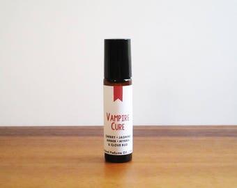 VAMPIRE CURE / Cherry Jasmine Amber Myrrh & Clove Bud / Book Inspired / Vampire Diaries Collection / Roll-On Perfume Oil