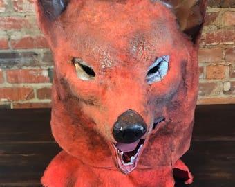 Vintage Paper Mache Fox Head Mask