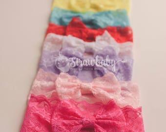 Lace Bow Headband, Lace Headband Baby, Lace Headband, Lace Headpiece, Baby Lace Headband, Baby Girl Headband, Baby Headband Bows