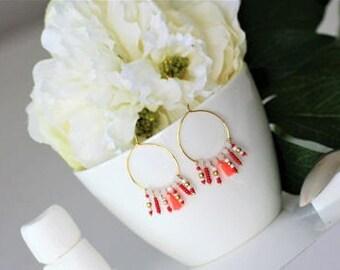 ethnic, dangling earrings ethnic, Womens earrings, gold plated earrings.