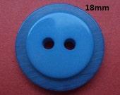 11 Knöpfe blau 18mm (725) Knopf