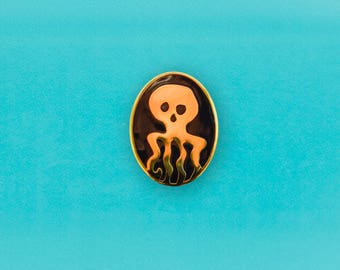 Spectre James Bond Logo Enamel Pin - Retro From Russia with Love lapel pin