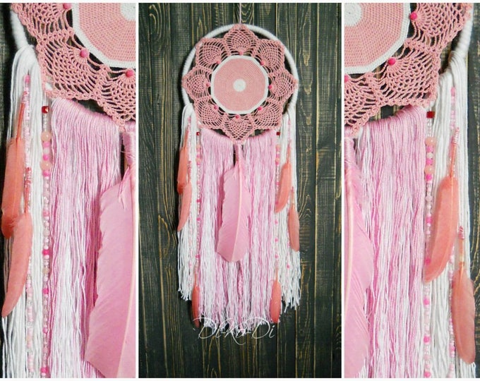 Macrame plant hanger Dream catcher kids Personalized gift for kids Macrame wall hanging Modern macrame Woven wall hanging Teal home decor
