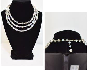 Laguna Aurora Borealis Crystal 3-Strand Necklace