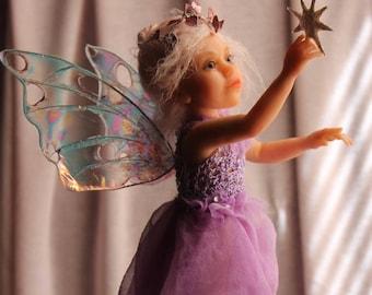 Star Catcher. OOAK polymer clay art doll by ALMA Artistry.