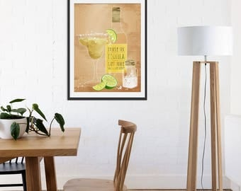 Margarita Art. Margarita Gift. Margarita Print. Tequila Gift. Alcohol Gift by Green Lili. Wall Art. Gift. Interiors. Drinks. Bar