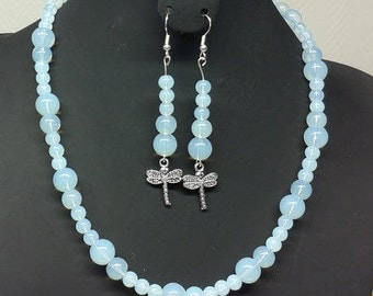 Opalite adornment, power stone, 6mmx3, 8 and 10mm beads