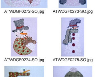 Mylar-Winter-Daze ( 9 Machine Embroidery Designs from ATW ) XYZ17F