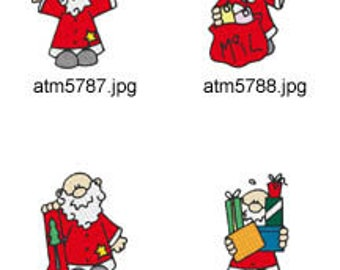 Santa-Visits ( 7 Machine Embroidery Designs from ATW ) XYZ17K