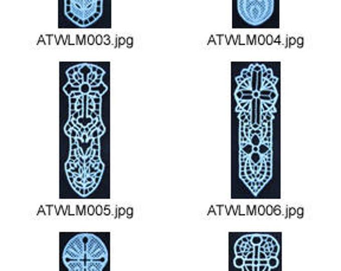 FSL-Cross-Bookmarks-5x7. ( 10 Machine Embroidery Designs from ATW ) XYZ17F
