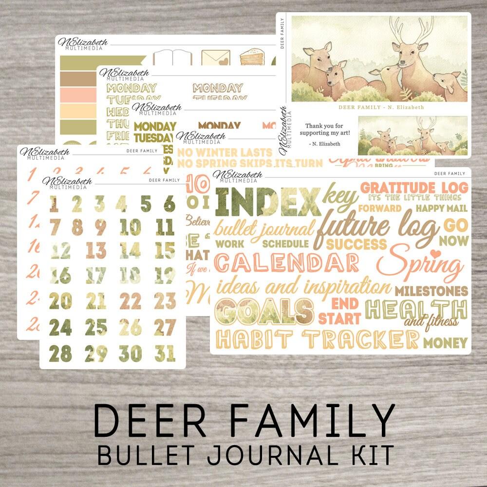 deer family bullet journal kit stickers artist collection from nelizabethmultimedia on. Black Bedroom Furniture Sets. Home Design Ideas