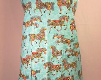 Horse of Many Colors bib apron