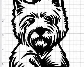 Scottie dog vinyl decal