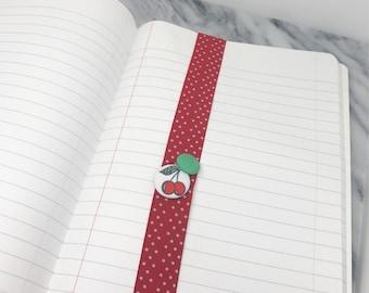 Vintage Cherries Planner Band for Happy Planner Erin Condren Planner Notebooks Back To School Girly School Supplies
