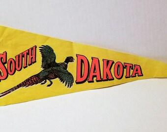 South Dakota - Vintage Pennant