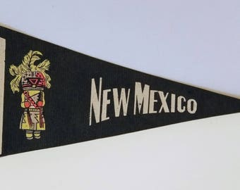 New Mexico - Vintage Pennant