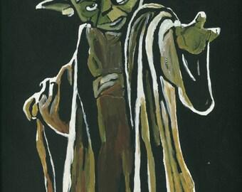 Yoda A4 Canvas