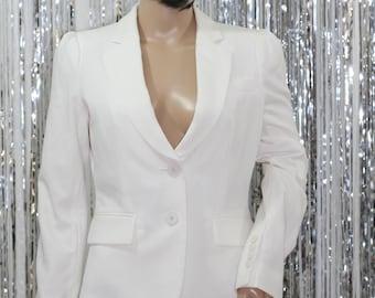 90's New York & Company Stretch White Blazer  *Mint Condition (2)