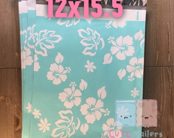100 pcs 12x15.5 inches Teal Poly Mailers
