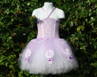 Sofia Birthday Tutu Dress, Girls Lavender Purple Party Dress, Sofia the First Outfit