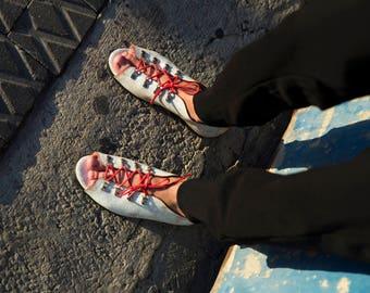 White leather sandal, flat sandals, lace sandal, white sandals, white open toed shoe, summer sandals, white women sandal, everyday sandals