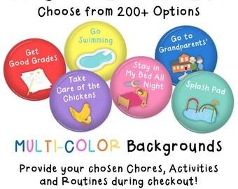 Chore Magnets • SET OF 55 • Chore Chart • Activity Chart • Kids Chores • Daily Routine • Cookie Sheet Chore Chart • Job Chart • MULTI