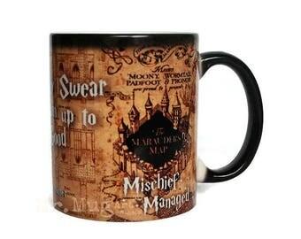 Harry Potter Mug, Harry Potter, Color Changing Mug, Harry Potter Art, I Solemnly Swear I'm Up To No Good, Magical Mug, Coffee Mug, Funny Mug