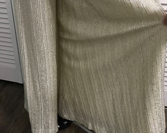 1970's Silver Metallic Palazzo Pants - Evelyn Pearson Lounging Apparel - Size Medium