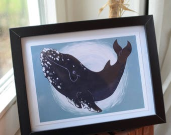 "Art Print, ""Save the Whales"" West Pacific Whale"