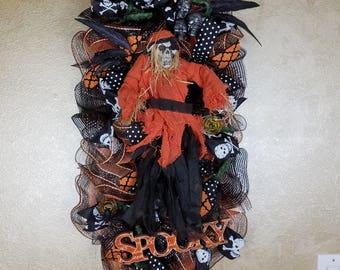 Halloween Skeleton/Ghoul Wreath/Swag, Skeleton Wreath, Ghoul Wreath, Wall Decor, Seasonal Wreath, Fall Wreath,Door Wreath,Seasonal Decor