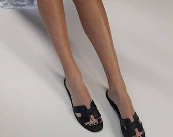 Hermes sandals,Hermes shoes.Hermes,Greek Sandals,Leather Sandals,Summer Shoes,Hermes Slides,Women's Shoes,