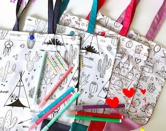 """Bag """"Tote bag"""" kids coloring"""