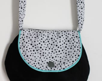 Bag Black, grey and blue stars for girl