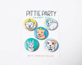 Pit Bull Magnets / Pittie Magnet / Pit Bulls / Pitties / Pit Bull Lover / Pit Bull Gift / Fridge Magnets / Dogs / Pit Bull / Dog Magnets
