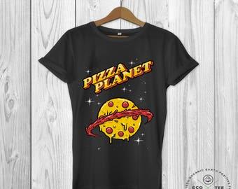 Pizza Planet -  Organic T-shirt - Vegan T-shirt -  humour -  Graphic tshirt -  Men's t-shirt - Streetwear - Fashion - Cool t-shirt