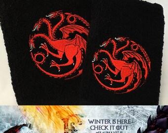 Game of Thrones - House Targaryen Towels