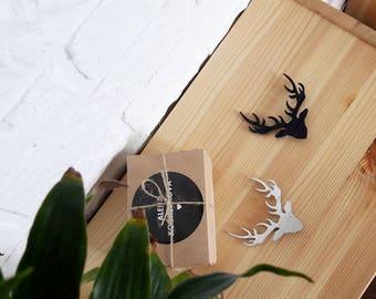Deer (2in)  Brooch - Deer Laser Cut  - Deer Acrylic Brooch - Deer Pin - Deer Jewelry - Plexiglas - Handmade - Barnaul