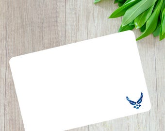 US Air Force Note Cards- Air Force Wife- Air Force Girlfriend- Military Notecards- Military Stationary