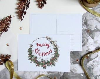 Merry Christmas - Christmas Postcard