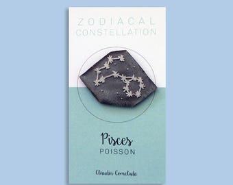 constellation of the Zodiac - fish brooch