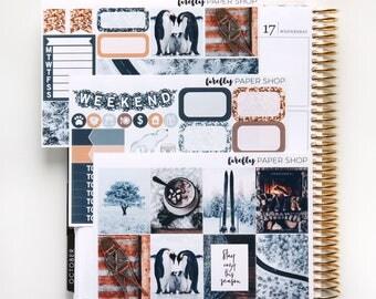 Frozen MINI Weekly Kit (stickers for Erin Condren Life Planner - Vertical)