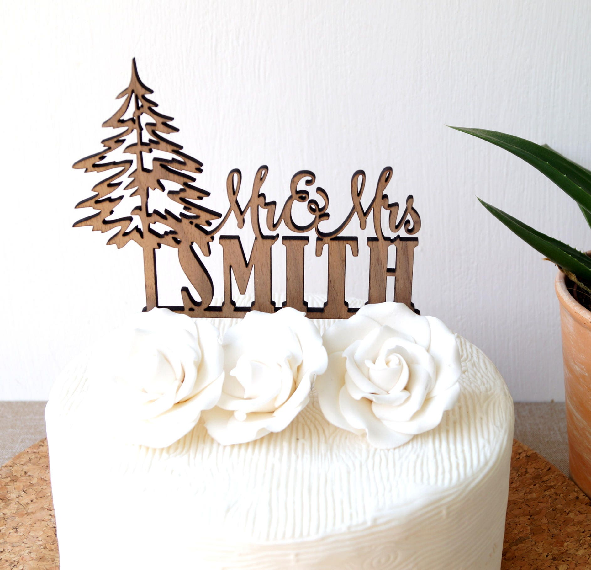 Mr and Mrs cake topper, personalized wedding cake topper, custom ...