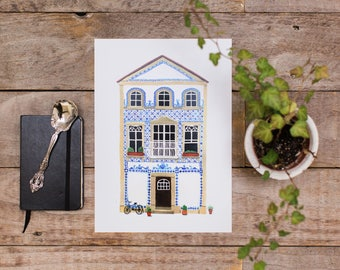 Azulejo House - Art Print