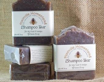 Shampoo Bar || Dry Hair || Dry Scalp || Artisan Soap || Organic Soap || Palm-Free Soap