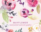 Mayflower Watercolor Graphics