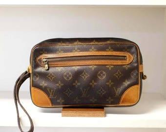 Vintage Authentic Louis Vuitton Monogram Marly Dragonne GM Clutch Bag Handbag Wristlets Purse Pouch Cosmetic LV YO4044