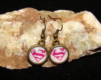 Supergirl Hook Earings
