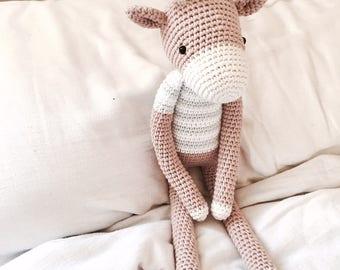 Crochet Baby Deer Amigurumi Hand Made Soft Toy Nursery Decoration Plushie