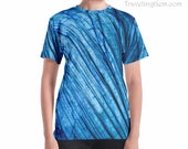 Blue Labradorite Unisex T-shirt, crystal clothing, gem shirt, gemstone rock shirt, gem design rock art, stone patterns, geologist rock gifts